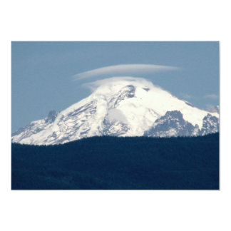 Mt Baker With Cloud Card