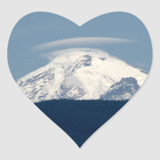 Mt Baker With Cloud Heart Stickers