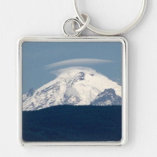 Mt Baker With Cloud Keychain
