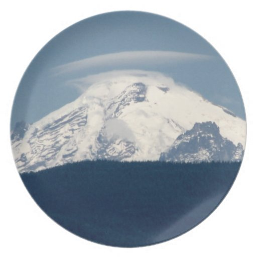 Mt Baker With Cloud Plate