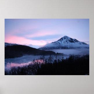 Mt. Barometer & Lake Louise, Kodiak, Alaska Poster