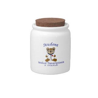 MT Bear Student Medical Transcriptionist Candy Jars
