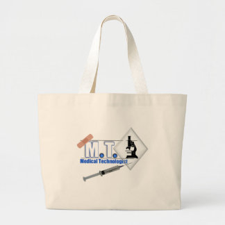 MT BLUE W/ MICROSCOPE - MEDICAL TECHNOLOGIST LAB LARGE TOTE BAG