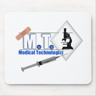 MT BLUE W/ MICROSCOPE - MEDICAL TECHNOLOGIST LAB MOUSE PAD