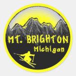 Mt. Brighton Michigan skier Sticker
