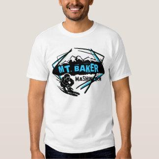 Mt. Camiseta de los individuos del esquiador del Playeras