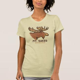 Mt. Camiseta marrón de las señoras de los alces de Poleras