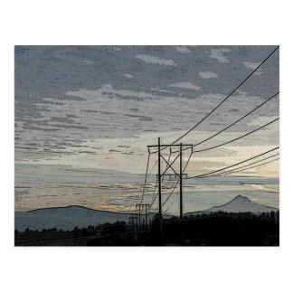 Mt. Capilla en la postal de la salida del sol