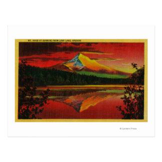 Mt. Capilla en la salida del sol del lago perdido, Tarjeta Postal