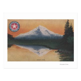 Mt. Capilla, Oregon - San Francisco a Portland Tarjeta Postal