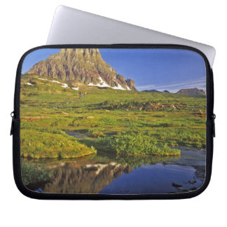 Mt Clements reflects into small pool at Logan Laptop Sleeve