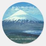 Mt. Cleveland del pegatina/de Alaska
