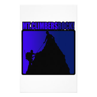 Mt. Climbers Rock! Customized Stationery