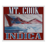 MT COOK INDICA POSTERS