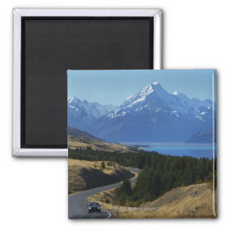 Mt. Cook, New Zealand 2 Inch Square Magnet