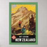 Mt Cook New Zealand (border) Poster