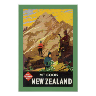Mt Cook New Zealand (canvas) Poster