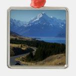 Mt. Cook, New Zealand Metal Ornament