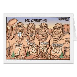 Mt. Crushmore Greeting Card