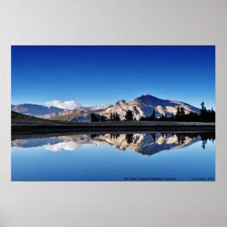 Mt. Dana, prados de Tuolumne, Yosemite, CA Póster