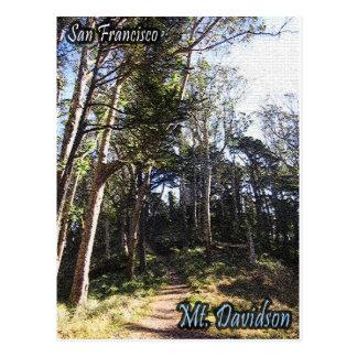 Mt. Davidson que camina la postal de la