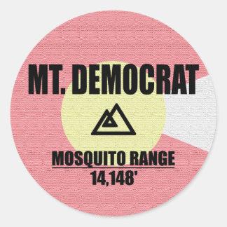 Mt. Democrat Classic Round Sticker