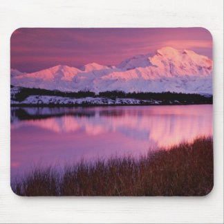 Mt. Denali at sunset from Reflection Pond Mouse Pad