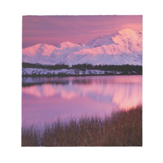 Mt. Denali at sunset from Reflection Pond Notepad