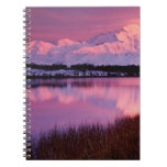 Mt. Denali at sunset from Reflection Pond Spiral Note Book