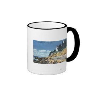 Mt. Desert Island, Bass Harbor Head Lighthouse Ringer Mug