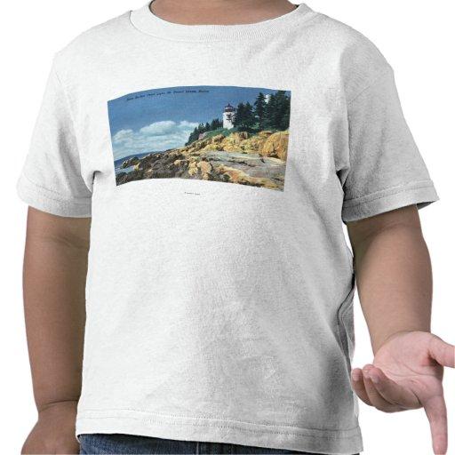 Mt. Desert Island, Bass Harbor Head Lighthouse T Shirt