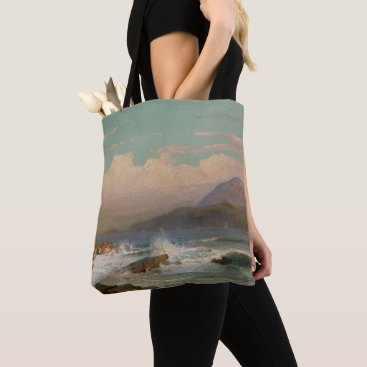 Beach Themed Mt. Desert, Maine Tote Bag