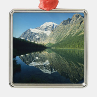 Mt Edith Cavell in Cavell Lake, Jasper National Christmas Tree Ornaments