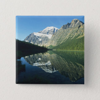 Mt Edith Cavell in Cavell Lake, Jasper National Pinback Button