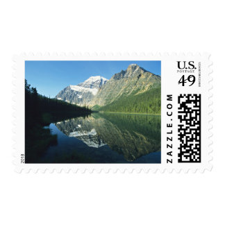Mt Edith Cavell in Cavell Lake, Jasper National Postage Stamps