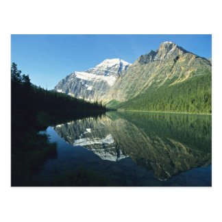 Mt Edith Cavell in Cavell Lake, Jasper National Postcard