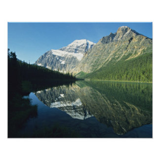 Mt Edith Cavell in Cavell Lake, Jasper National Print