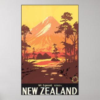 Mt. Egmont. 8,260 Ft. New Zealand, Vintage Poster