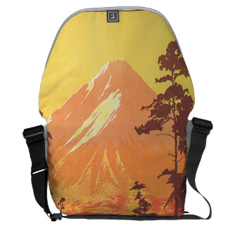 Mt. Egmont New Zealand Vintage Travel Poster Messenger Bag