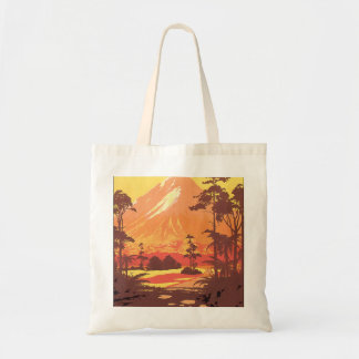 Mt. Egmont New Zealand Vintage Travel Poster Tote Bag