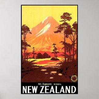 Mt. Egmont Nueva Zelanda Póster