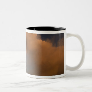 Mt. Etna summit vent, Sicily, Italy Two-Tone Coffee Mug