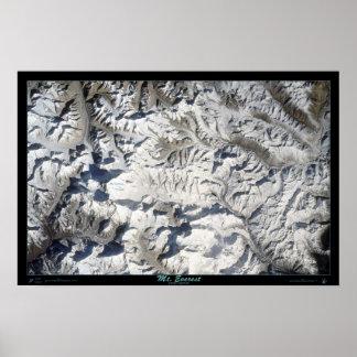 Mt Everest del poster del satélite del transbordad