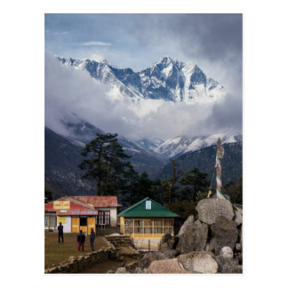 Mt Everest Peak from Tengboche Himalayan Village Postcard