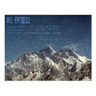 Mt Everest Postcard