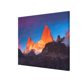 Mt Fitz Roy At Sunrise Canvas Print