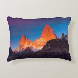 Mt Fitz Roy At Sunrise Decorative Pillow
