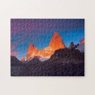 Mt Fitz Roy At Sunrise Jigsaw Puzzle