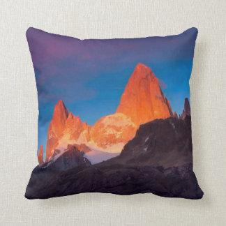 Mt Fitz Roy At Sunrise Pillow