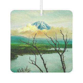 Mt. Fuji 富士山 Through the Pines Vintage Japanese Air Freshener